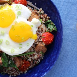 sunny side up eggs with runny yolk