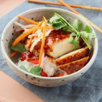 grilled chicken banh mi bowl