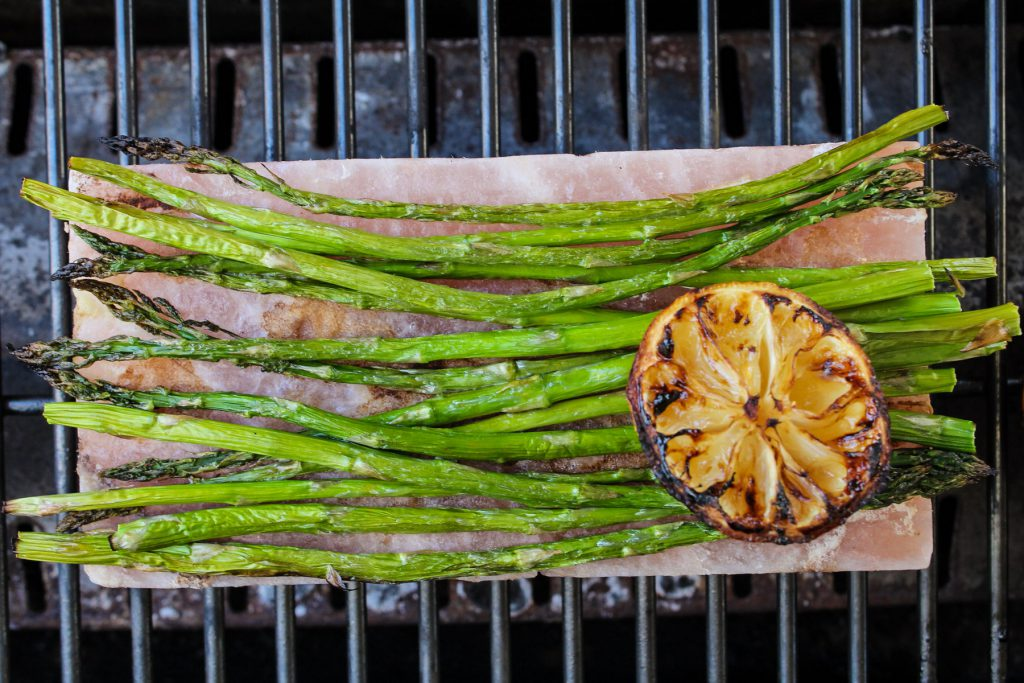 salt block roasted asparagus