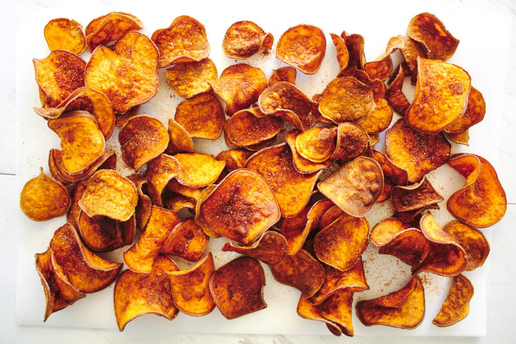 sweet potato bbq chips