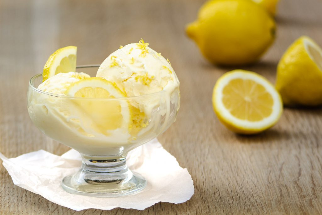 lemon custard icecream