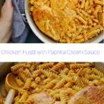 pasta and chicken