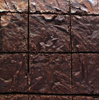 brownies cut into squares in the pan