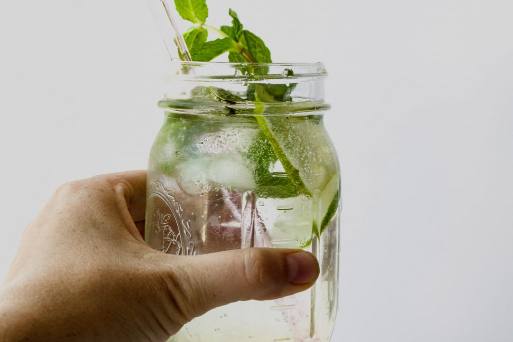 natural mint lime soda