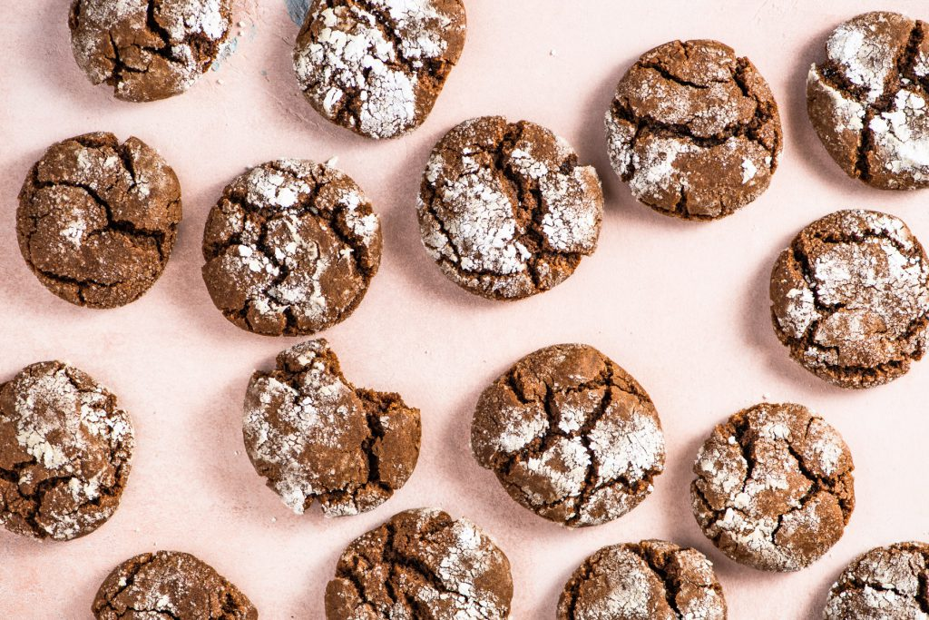 ginger molasses cookies_