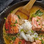 salmon curry with kaffir lime sauce recipe