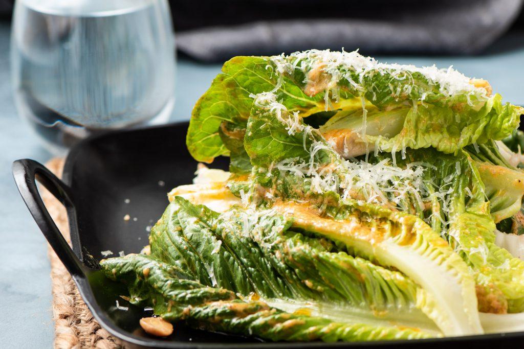 smoky caesar salad