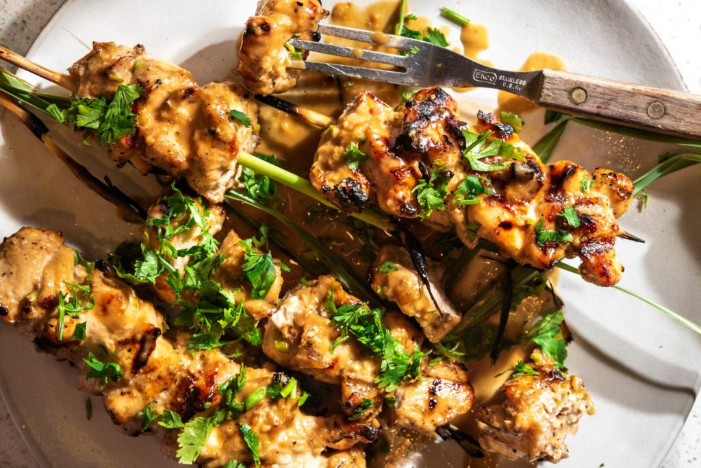 chicken lemongrass satay
