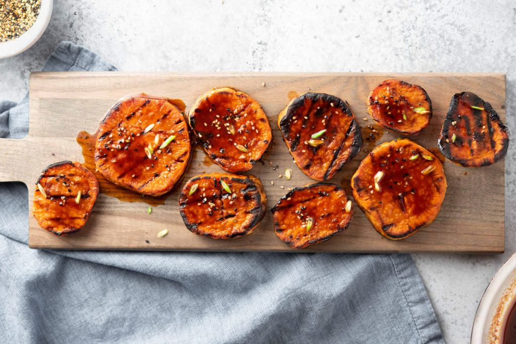 chilli glazed yams