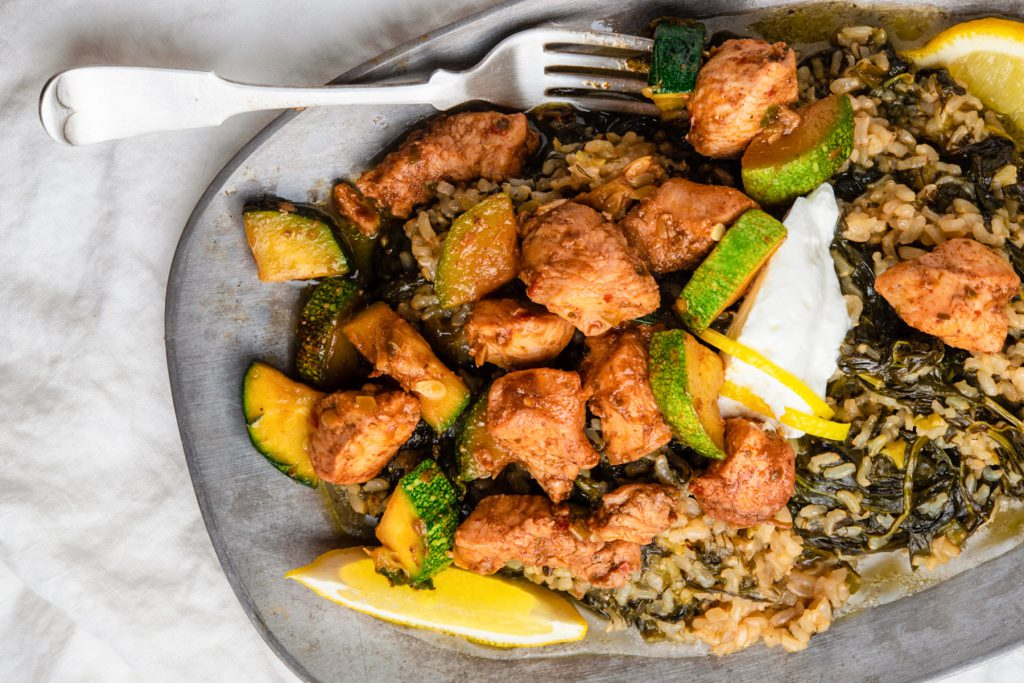 chicken and zucchini with lemon