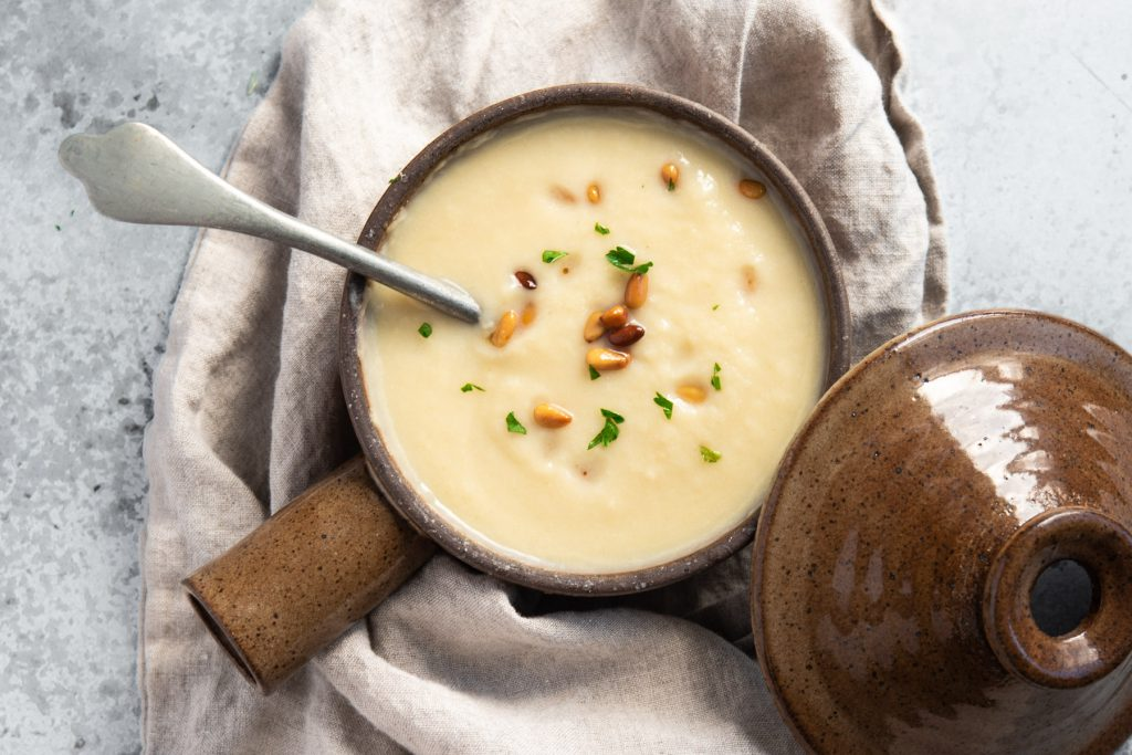 cauliflower leek potage