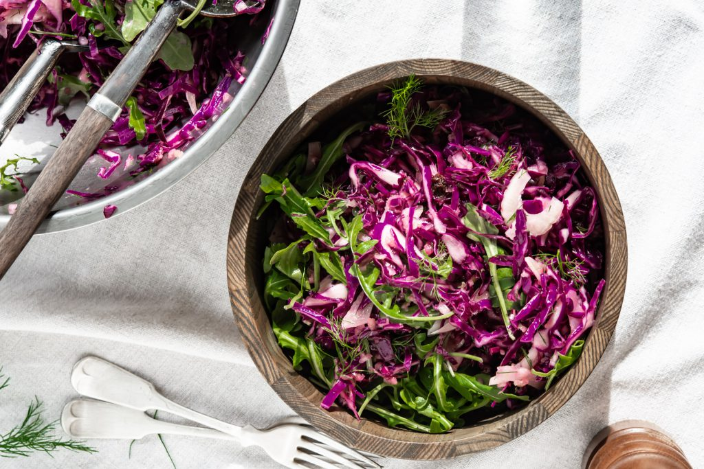 red cabbage fennel slaw