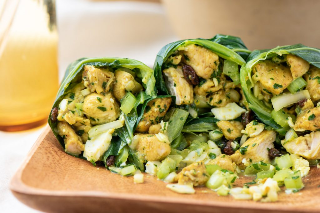 collard chicken wraps