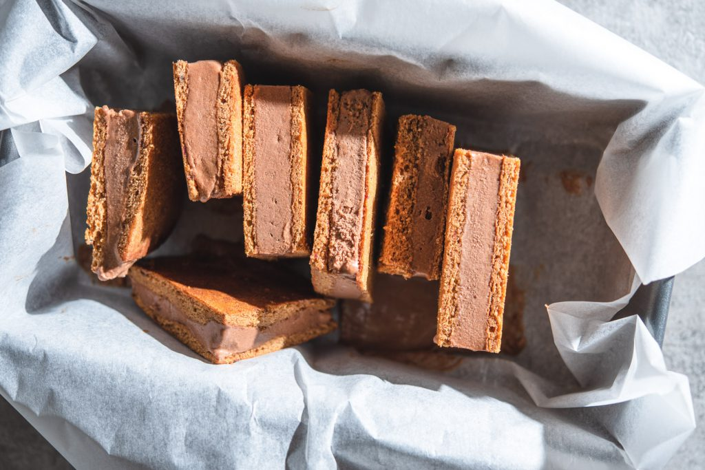 paleo carob ice cream sandwiches