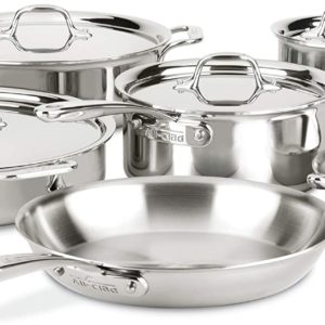 All Clad Stainless Steel Cookware Set 10 Piece