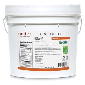 Nutiva Organic Steam Refined Coconut Oil non-GMO Sustainably Farmed Coconuts 128 Fl Oz