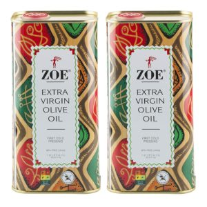 ZOE Extra Virgin Olive Oil 1-Liter (2 Pack)