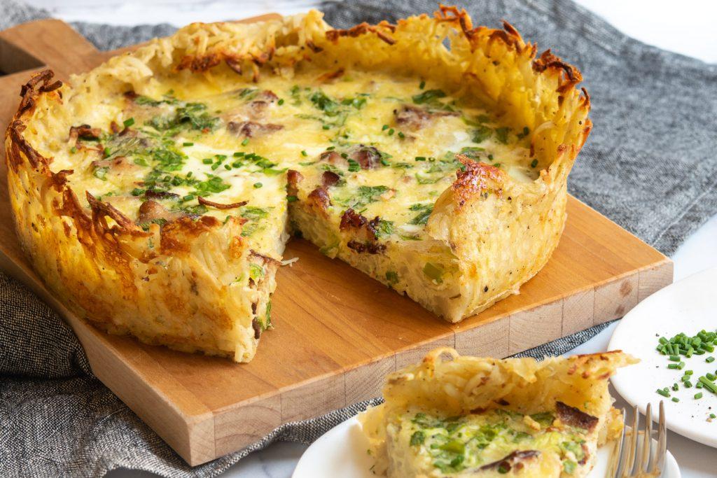 quiche hashbrown crust