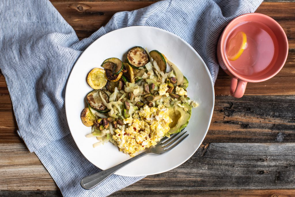 zucchini breakfast bowl