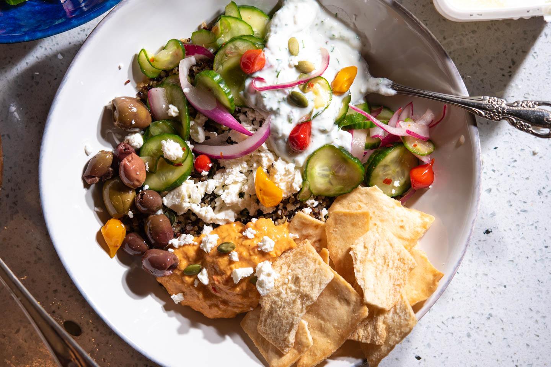 Best Ever Mediterranean Quinoa Bowl Best Ever The Frayed Apron