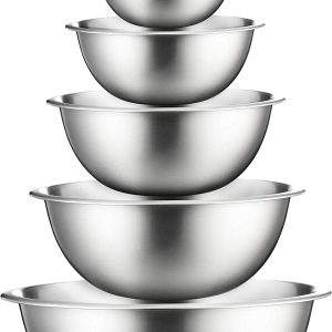 stainless steel nesting bowls set of 6