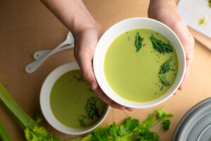 celery soup with celery leaves