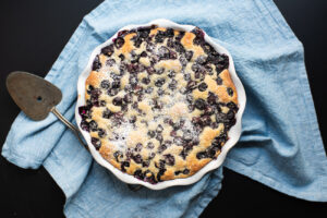 blueberry breakfast buckle cake