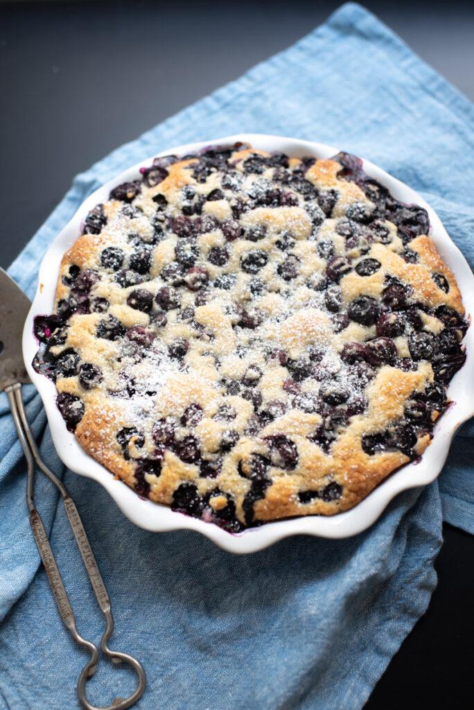 blueberry breakfast buckle cake