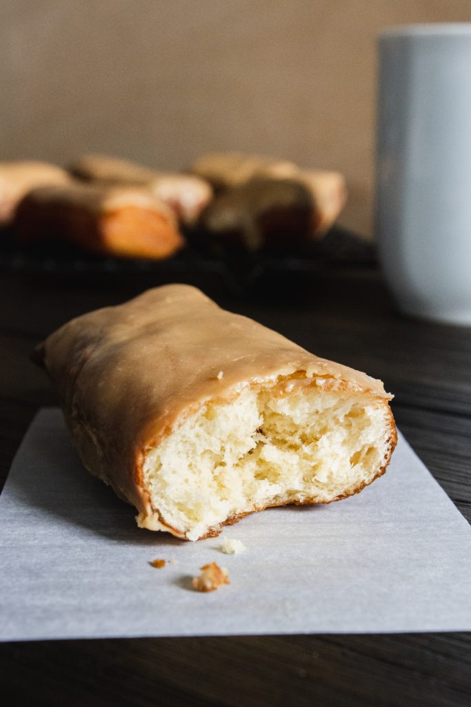 inside view of maple donut